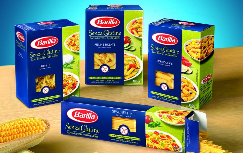 gamma pasta Barilla senza glutine