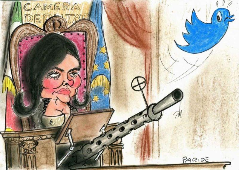 Boldrini spara a Twitter