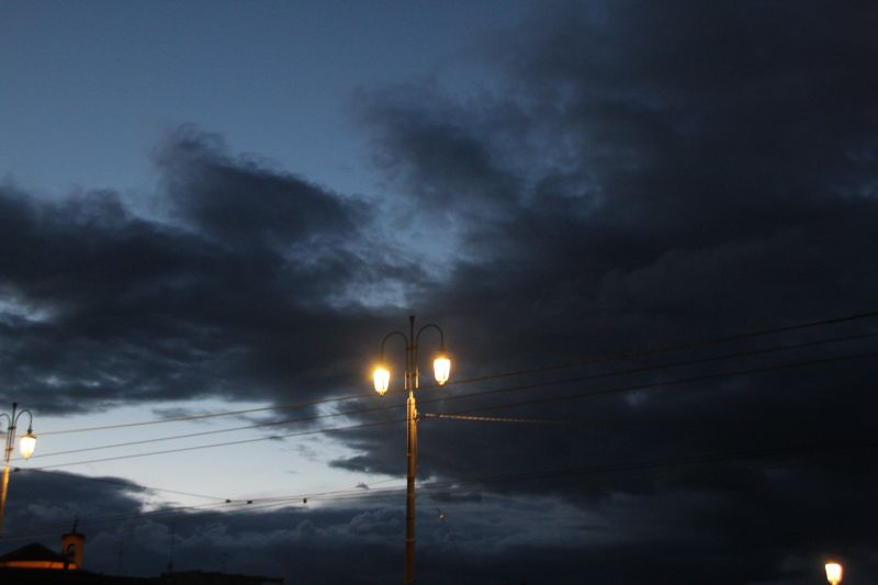Foto Luigi Boschi: Cielo di Parma la sera dopo la pioggia