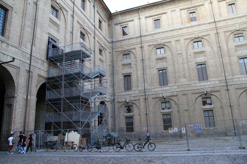 Foto Luigi Boschi: Cortile della Pilotta