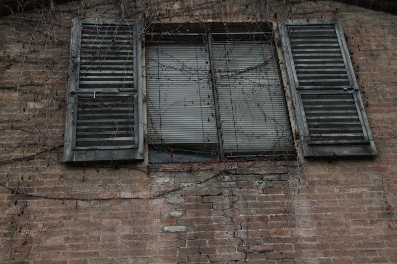 Foto Luigi Boschi: la finestra sulla facciata torrente del Palazzo della Pilotta