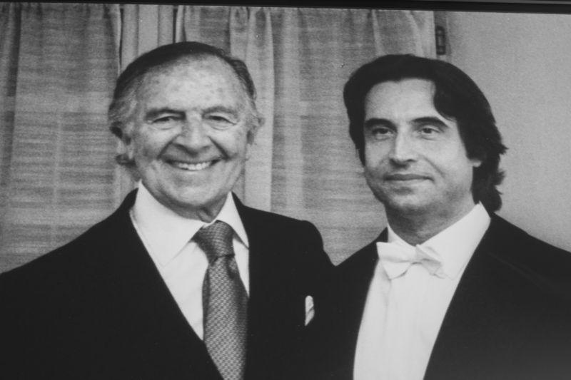 Pietro Barilla con il Maestro Riccardo Muti