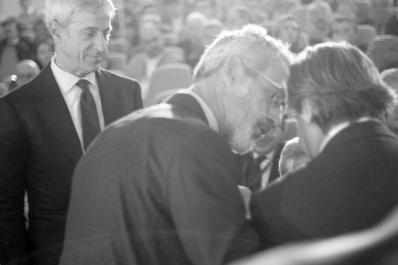 Foto Luigi Boschi: Luca e Guido Barilla con il maestro Riccardo Muti