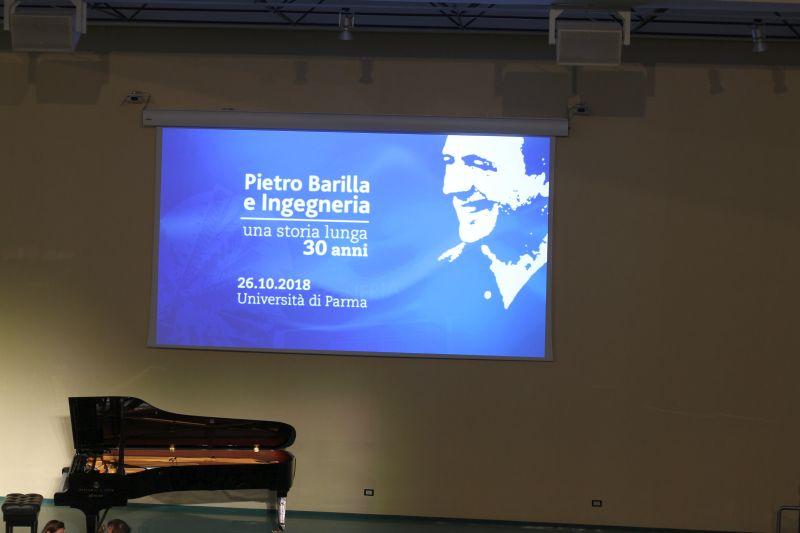 foto Luigi Boschi: Manifesto PIETRO BARILLA E INGEGNERIA DI PARMA, UNA STORIA DI 30 ANNI
