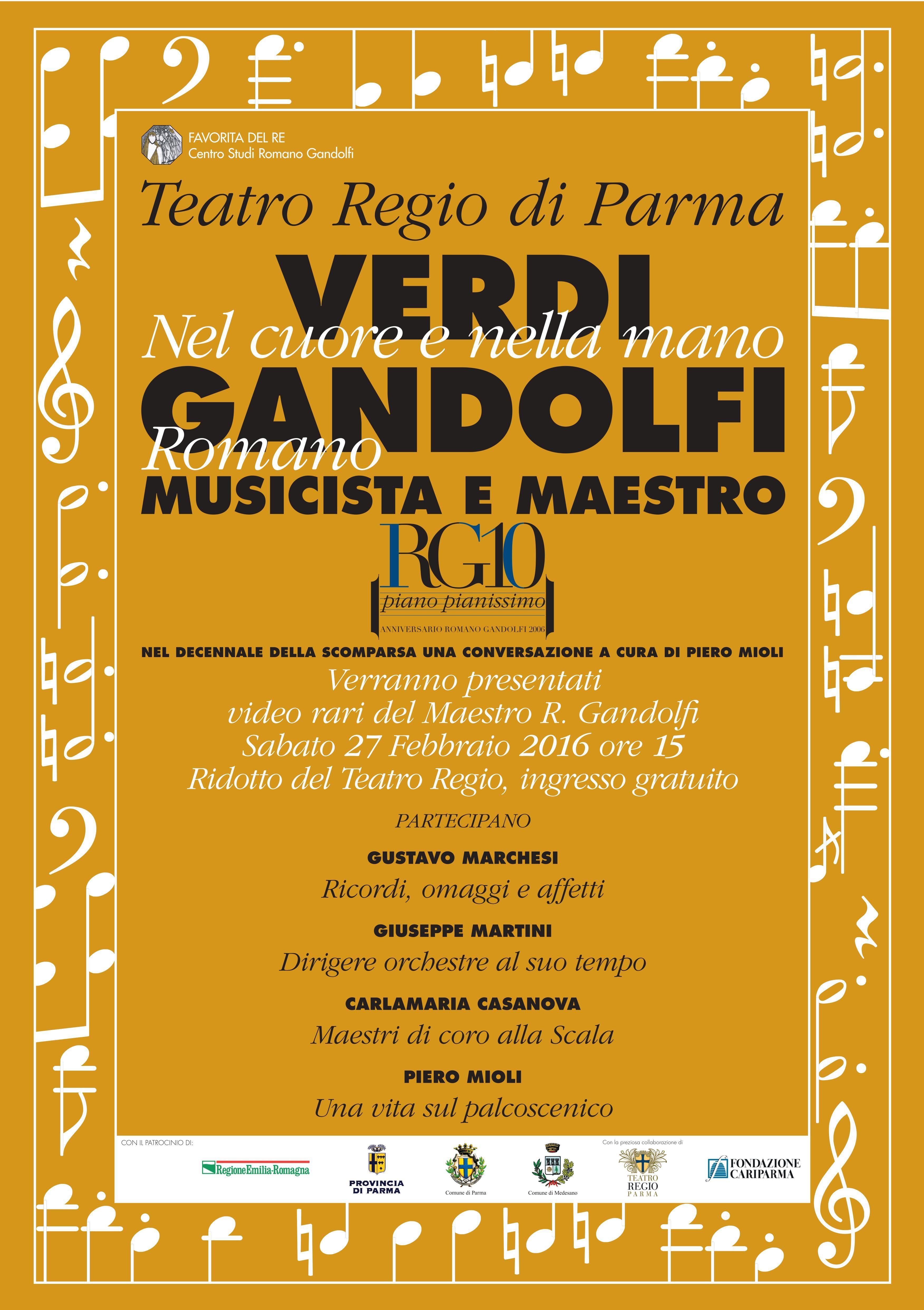 giornata di studi su Verdi e Gandolfi