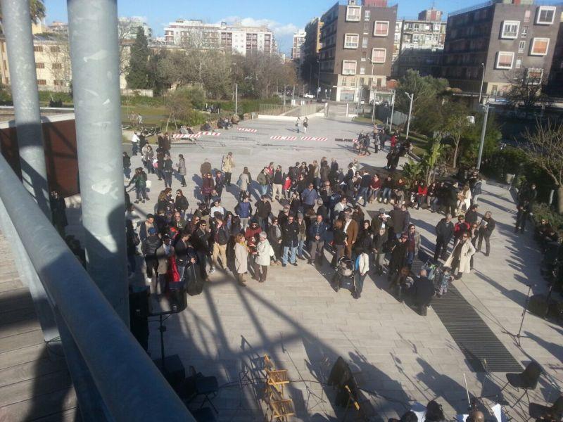 Protesta del 28/3/2015 di pochi lavoratori del teatro Lirico di Cagliari