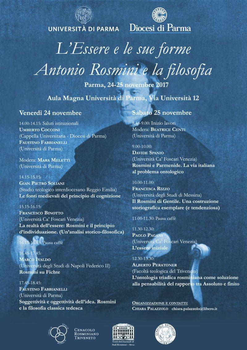 L'essere e le sue forme, Antonio Rosmini e la filosofia