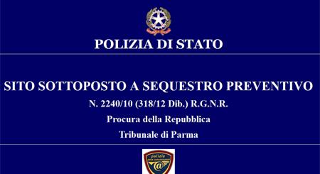 Polizia di Stato: sito sotto sequestro
