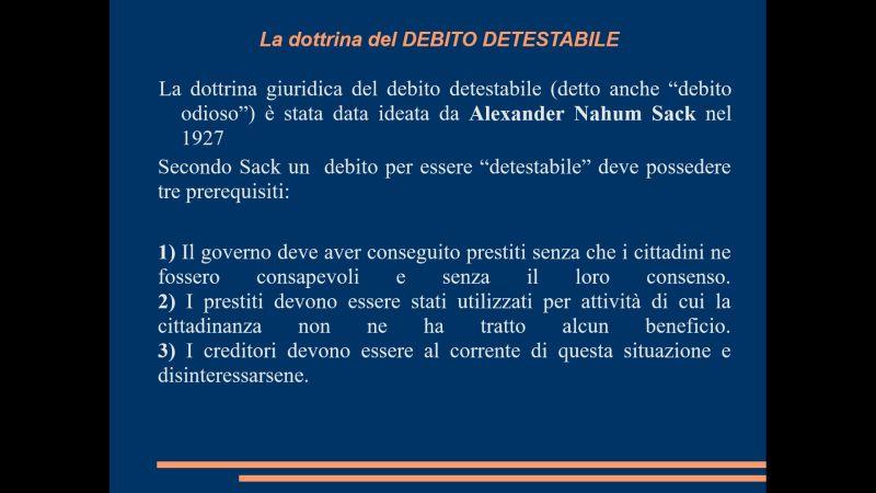 La dottrina del Debito Detestabile