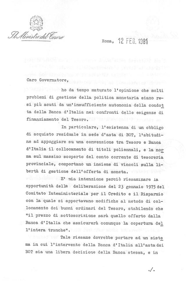 Lettera di Andreatta pag1