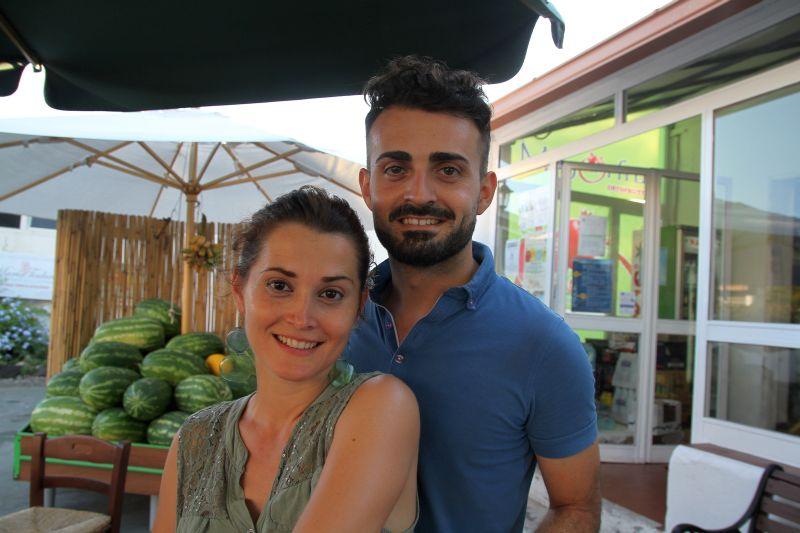 Foto Luigi Boschi: Alessandro e Rosalia Maggio di Mayorfruit