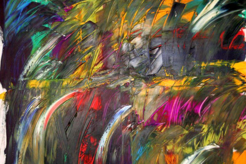 Luigi Boschi - opera: vento. Olio su tela 100x100
