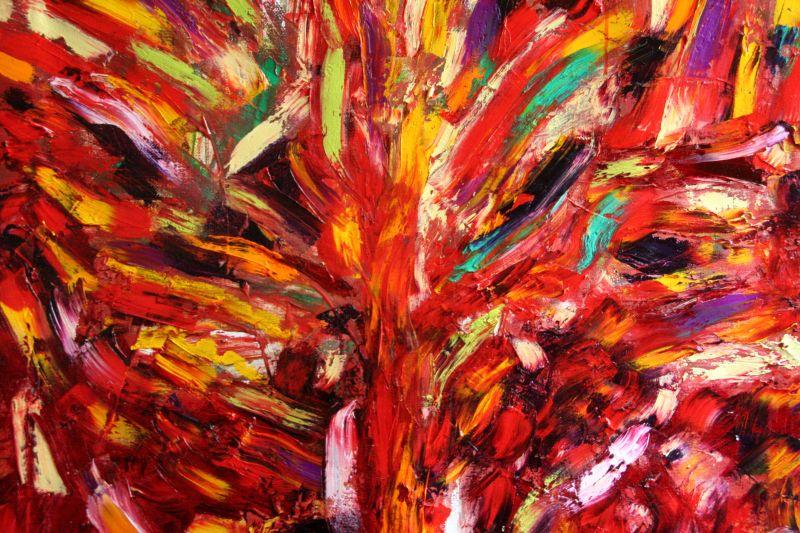 Luigi Boschi - opera - Albero della felicità - olio su yuta 100x120