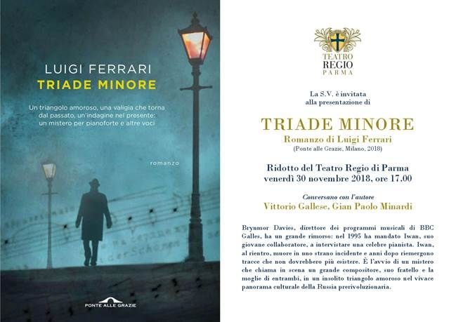 Triade Minore di Luigi Ferrari presentazione al Ridotto del Teatro Regio di Parma