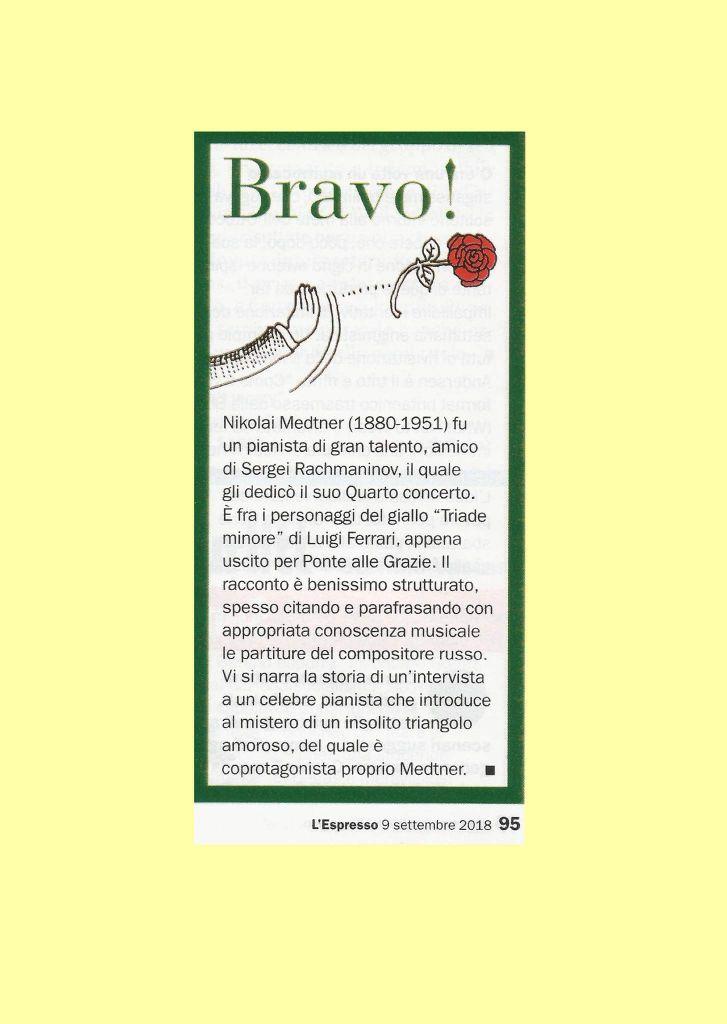 Recensione libro Triade Minore di Luigi Ferrari