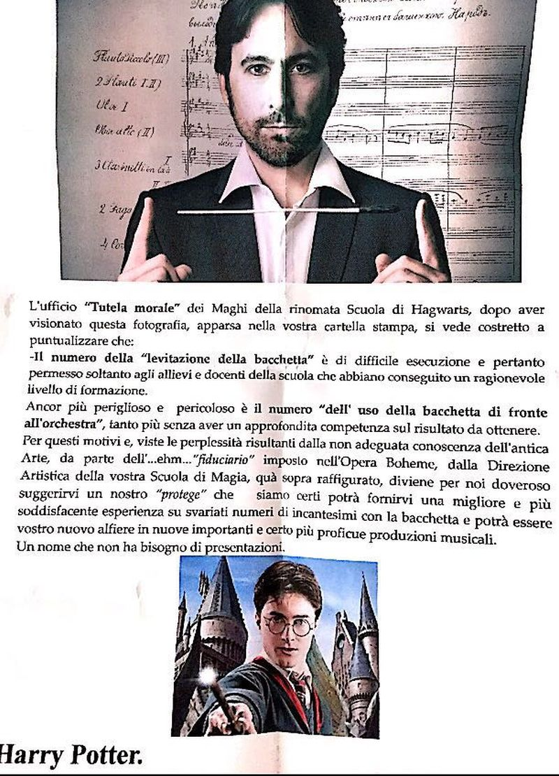 Michelangelo Mazza con Harry Potter