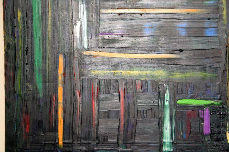 Opera olio su tela 100x100 di Luigi Boschi: Speranza. (Collezione JB)