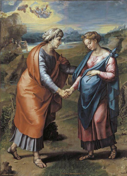 La visitazione: opera di Raffaello Sanzio del 1517 circa conservata nel Museo del Prado di Madrid.