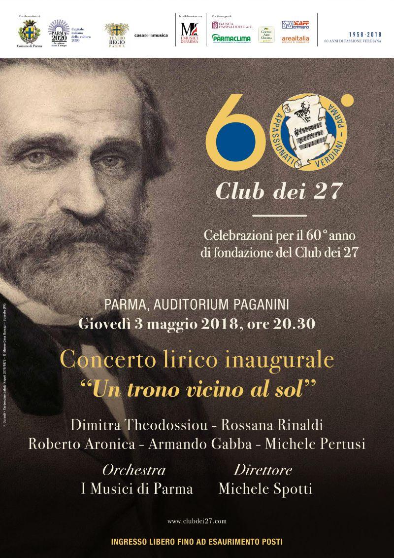 sessantesimo anniversario del Club dei 27