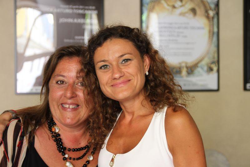 Foto Luigi Boschi: Rosetta Cucchi (direttrice artistica) e Mihaela Costea (Primo violino) Filarmonica Arturo Toscanini